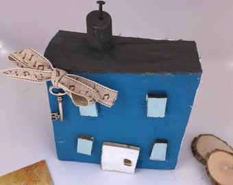 Driftwood House; music gift '. Reclaimed Wooden Gift; seaside house; Music lover's gift; Seaside cottage; New home; fifth anniversary