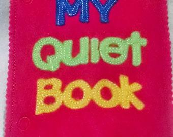 Felt quiet book - Toddler quiet book - Quiet book page - Toddler busy book - Busy book page - Felt busy book - Cover for quiet book   #QB49