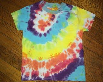 Rainbow Tie Dye Kids T-Shirt