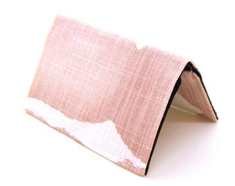 Mini Wallet / Card Holder / Business Card Holder / Card Case / Gift Card Holder/ Small Wallet - Blush Pink Watercolor