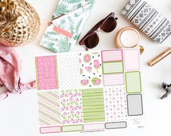 NEW FORMAT / Summer Big Happy Planner Stickers / Watermelon Stickers / Planner Stickers / Summer Planner Stickers / Weekly Sticker / BHP67