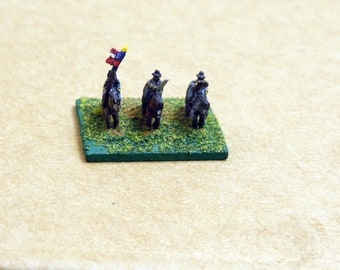 Miniature Civil War Soldiers, 1:285 Scale Soldiers, Lead Soldiers, 10mm Figures, Blue and Grey Miniatures, GHQ Miniatures, Horseback