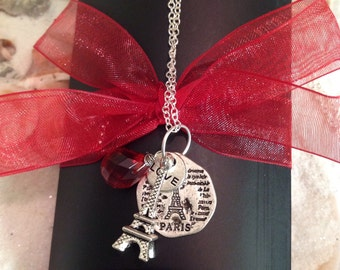 Sterling Silver Gemstone Paris Necklace