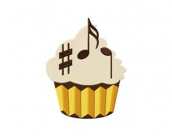 Musical cupcake music notes