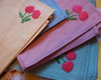 sweet cherries linen tea napkins