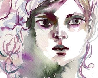 Aurora Watercolor art print - archival fine art