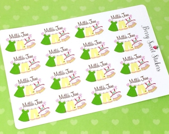 Matilda Jane Planner Stickers, MJ Planner Stickers, Matilda Jane Green Pearl Stickers, fit for Erin Condren Life Planner Stickers