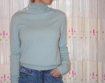 Vintage Light Blue Cashmere Sweater