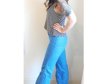 Vintage 70s High Waisted Flares