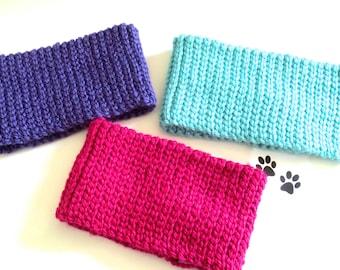 Dog Scarf Neck Warmer Cowl Pet Neckwarmer Pink Purple Aqua Dog Collar Pet Cat Dog Clothes Puppy Accessories Winter Cowl Crochet Scarf Cozy