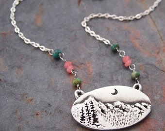 Gemstone and Rocky Mountains Necklace
