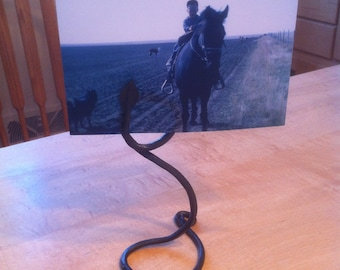 Hand forged photo holder