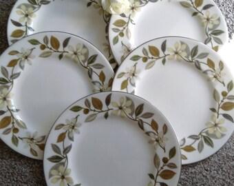 Set Of 5 Vintage Wedgewood Beaconsfield Side/Tea Plate