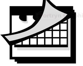 Calendar Icon. Clip Art Commercial Use