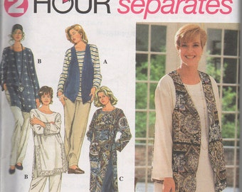 Simplicity 8783 1990's Tunic, Pant and Vest