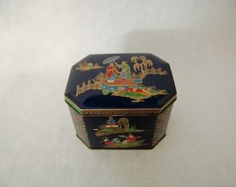 Vintage Asian Tin // Tea Tin // Asian Box