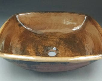 Handmade Ceramic Vessel Sink For Your Bathroom Remodeling- Rectangle- Made to Order