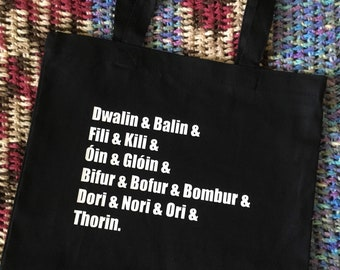 tote bag - Dwarves (names)