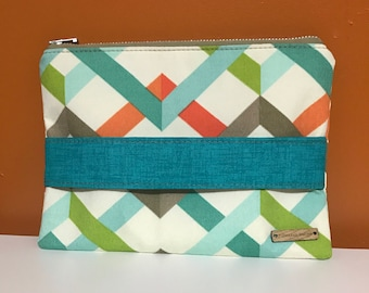 Multi Colored Geometric Handbag