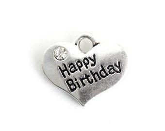 ADD A CHARM - Happy Birthday Heart Charm