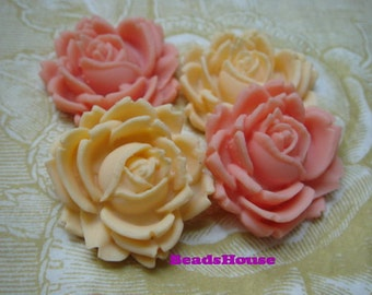20%off 416-00-CA  4pcs Pretty Rose Cabochon-28mm