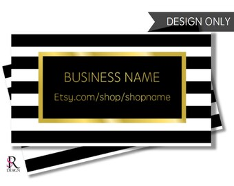 Black White and Gold Business Card