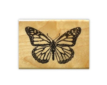 realistic MONARCH BUTTERFLY mounted rubber stamp, bug, nature, summer, Sweet Grass Stamps No.9