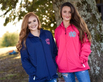 Monogrammed Rain Jacket Personalized Rain Coat a1