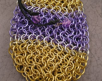 Small Dice Bag Custom Color Choices with Silver-Lined Band