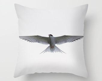 Bird cushion, bird pillow, white pillow, white cushion, photography pillow, throw pillow, throw cushion, pillow cover, bird decor, unique