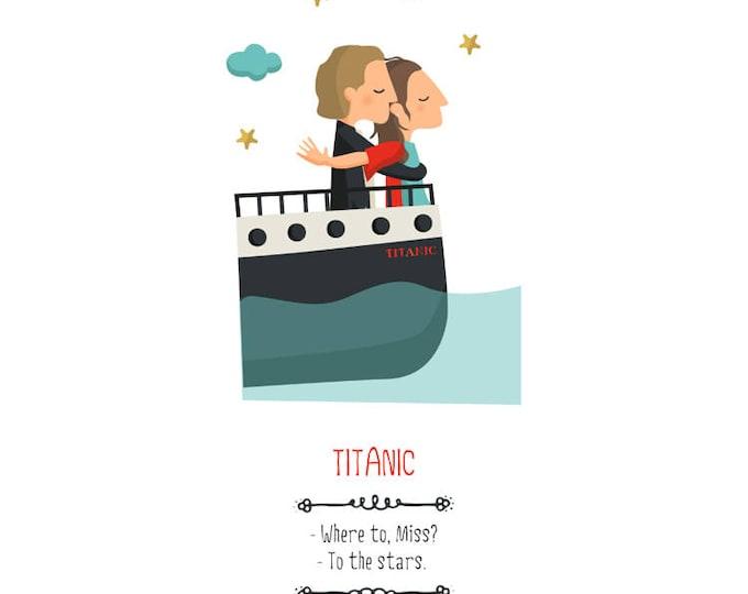 """Ilustración """"Titanic"""". Basada en la película de James Cameron."""