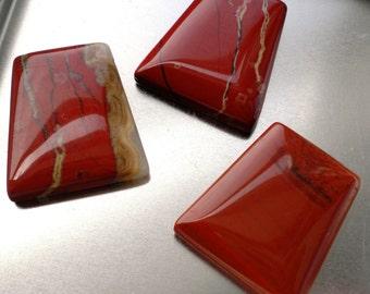 Rich Red Jasper Trapezoid Beads, 23x25mm