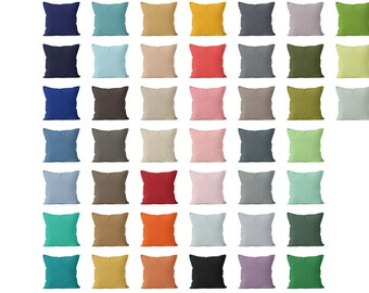 Solid Pillow Cover 54 colors available 18x18 , Solid Throw Pillow Cover, Solid Cushion Cover, Solid Pillow Sham, Pillows Solid Colors