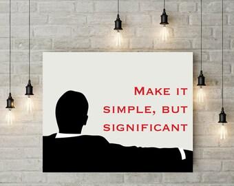 Mad Men tv show art print, poster, don draper silhouette