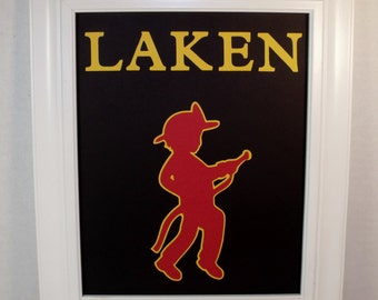 Personalized Fireman Name Sign - Boys Wall Decor -  Deluxe 8x10 UNFRAMED Insert - You choose colors - Other themes available