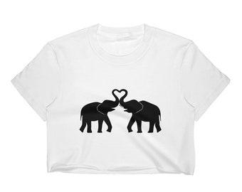 Elephant love Women's Crop Top