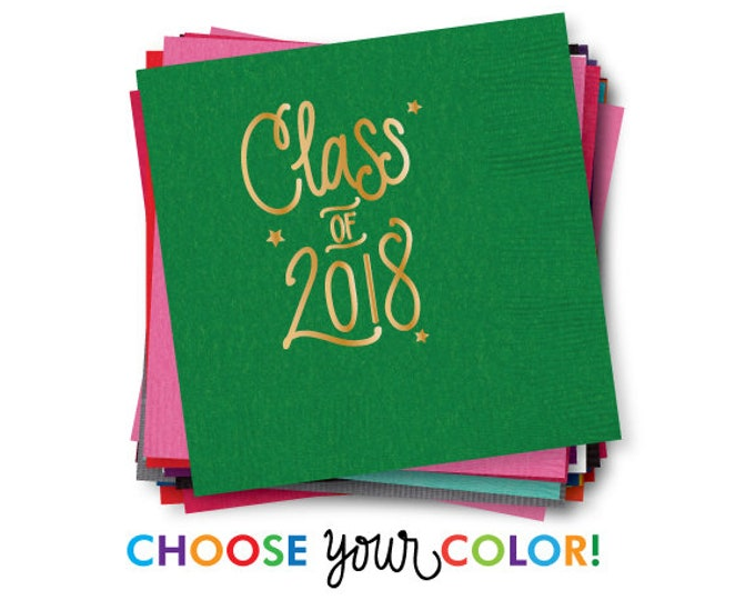 Featured listing image: Graduation Napkins | Choose YOUR Color!