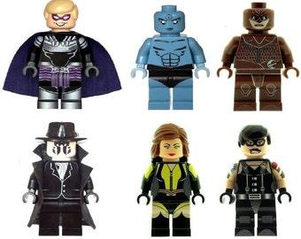 Custom Designed Minifigure - Set of Watch Men Printed On LEGO Parts