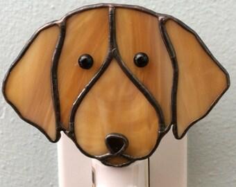 Stained Glass Golden Retriever Dog Night Light