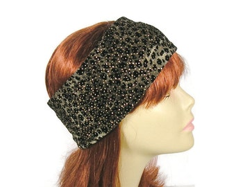 Leopard Print Earwarmer Leopard Ear Warmer Fleece Lined Ear Warmer Leopard Head Wrap Winter Head Wrap Warm Headband Leopard Headband