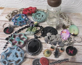 Junk Treasure Destash Salvage MIXED MEDIA SUPPLIES for Assemblage, Scrapbooking, Steampunk and Altered Art