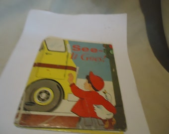 Vintage 1953 See It Goes Tell A Tales Book, collectable
