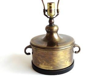 Vintage Frederick Cooper Brass Barrel Lamp