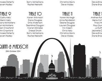 St Louis Seating Chart Digital Design Printable PDF Custom Personal Poster Print File ONLY