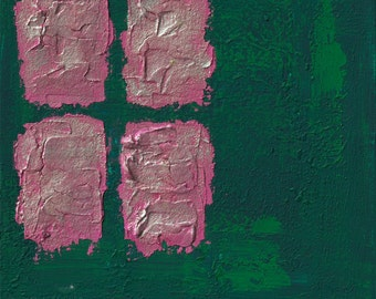 Wealth, prosperity and blessing,Feng shui abstract print,  green,wood,  FREE SHIPPING , 12x12 inch (30x30cm),   20x20inch (50x50cm)