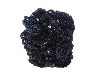Azurite Blue Crystal Druzy Cluster mined in Morocco, Mineral Specimen for a gemstone collection, Earth Copper Geo Gem
