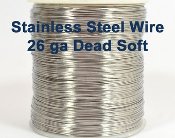 26ga Stainless Steel Wire - Dead Soft - Choose Your Length