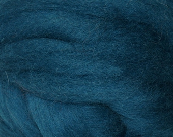 Cerulean Romney Wool Roving for Needle Felting One Ounce