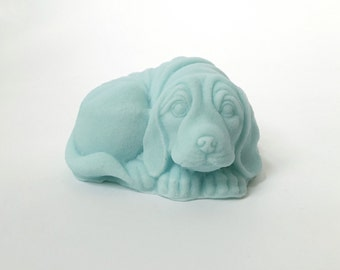 Soap: Wrinkly Dog Soap - Dog-Shaped Soap For Human Use, You Choose Color & Scent