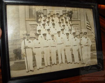Montgomery Minnesota Firefighters Fire Dept ~ Rare Original Photograph Framed